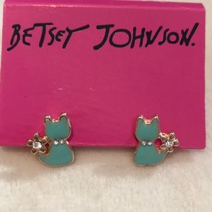 NWT! Betsey Johnson Cat Earrings!